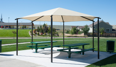 fabric shade vs. steel shade