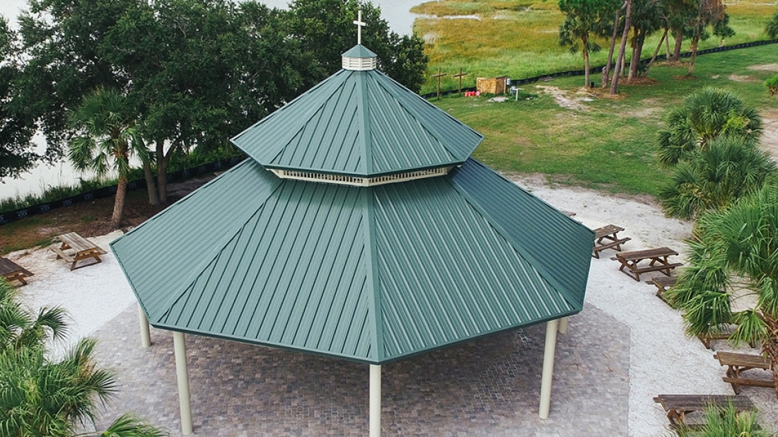 metal roof pavilion